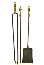 Set of English Neoclassical Fireplace Tools Circa 1800